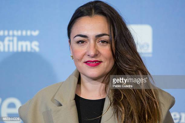Actress Candela Pena poses during a photocall to present 'Las Ovejas No Pierden El Tren' at 'Palafox' cinema on January 27 2015 in Madrid Spain