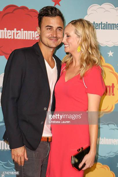 Actress Candice Accola and fiance Joseph Aaron King arrive at Entertainment Weekly's annual ComicCon celebration at Float at Hard Rock Hotel San...