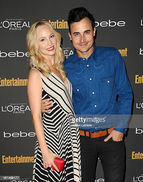 Actress Candice Accola and Joe King attend the Entertainment Weekly preEmmy party at Fig Olive Melrose Place on September 20 2013 in West Hollywood...
