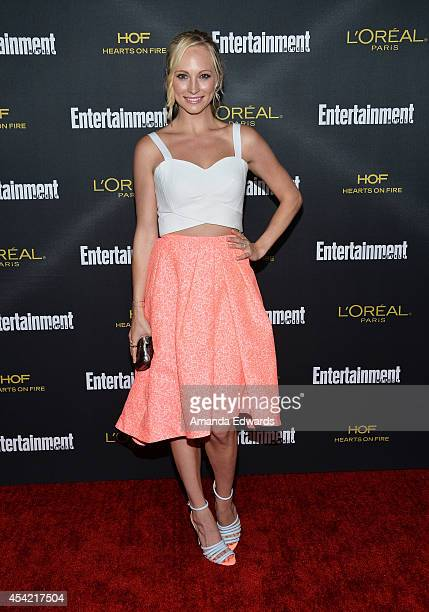 Actress Candice Accola arrives at the 2014 Entertainment Weekly PreEmmy Party at Fig Olive Melrose Place on August 23 2014 in West Hollywood...