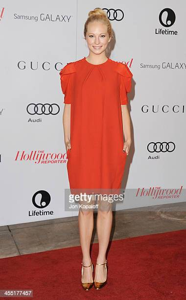 Actress Candice Accola arrives at The Hollywood Reporter's 22nd Annual Women In Entertainment Breakfast 2013 at Beverly Hills Hotel on December 11,...