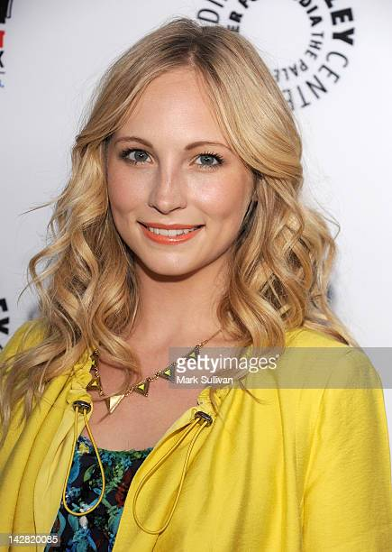 Actress Candice Accola arrives at the Paley Center's opening of Television Out Of The Box at The Paley Center for Media on April 12 2012 in Beverly...