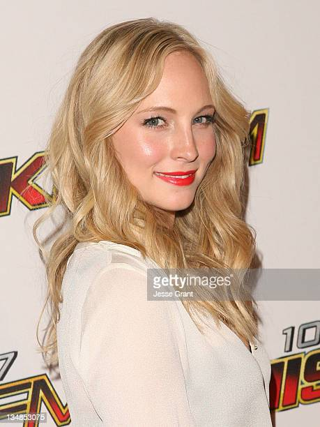 Actress Candice Accola attends 1027 KIIS FM's Jingle Ball at the Nokia Theatre LA Live on December 3 2011 in Los Angeles California