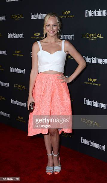 Actress Candice Accola attends the 2014 Entertainment Weekly PreEmmy Party at Fig Olive Melrose Place on August 23 2014 in West Hollywood California