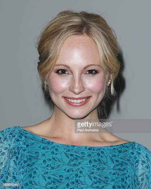 Actress Candice Accola attends the GenArt hosted dinner party at the Andaz Hotel on March 13 2013 in Los Angeles California