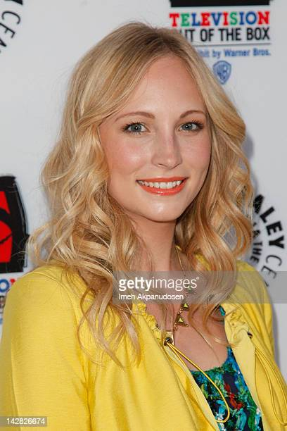 Actress Candice Accola attends the Paley Center's opening of Television Out Of The Box at The Paley Center for Media on April 12 2012 in Beverly...