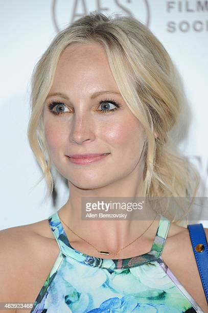 Actress Candice Accola attends the Vanity Fair and Chrysler celebration of Richard Linklater and the cast of Boyhood at Cecconi's Restaurant on...