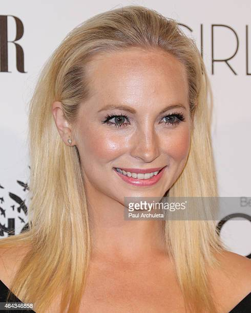 Actress Candice Accola attends the Vanity Fair and L'Oreal Paris Girl Rising benefit at 1 OAK on February 20 2015 in West Hollywood California