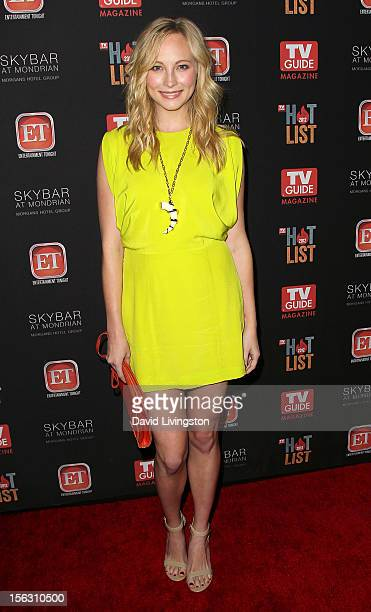 Actress Candice Accola attends TV Guide Magazine's 2012 Hot List Party at SkyBar at the Mondrian Los Angeles on November 12 2012 in West Hollywood...