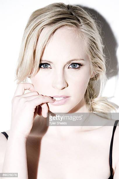 Actress Candice Accola poses for a portrait session in Los Angeles for Self Assignment