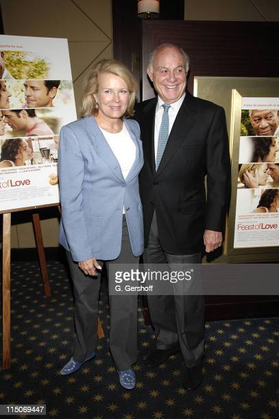 Actress Candice Bergen and guest arrive at the 'Feast of Love' New York City Premiere at the Dolby 88 Screening Room September 17 2007 in New York...