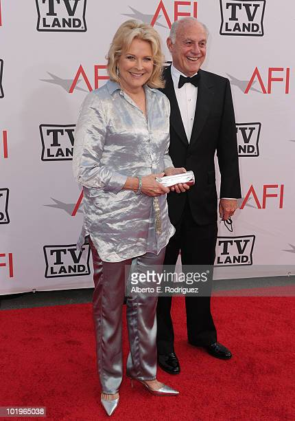 Actress Candice Bergen and husband Marshall Rose arrive at the 38th AFI Life Achievement Award honoring Mike Nichols held at Sony Pictures Studios on...