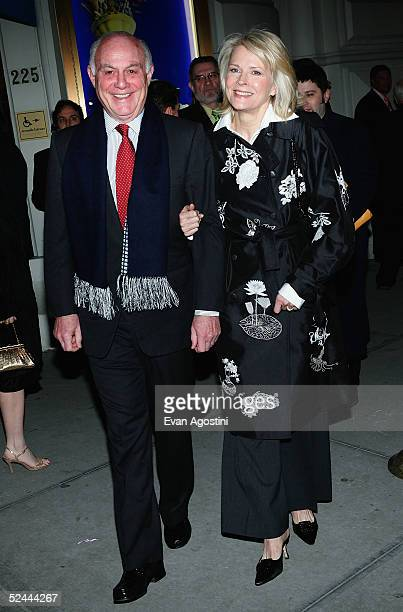 "Actress Candice Bergen and husband Marshall Rose attend the opening night of ""Monty Python's Spamalot"" at the Shubert Theatre March 17, 2005 in New..."