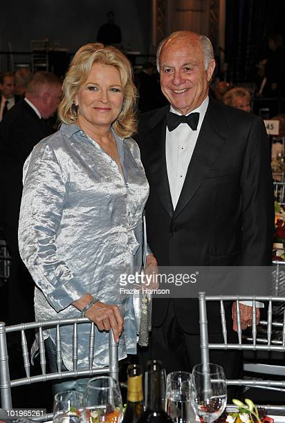 Actress Candice Bergen and husband Marshall Rose in the audience during the 38th AFI Life Achievement Award honoring Mike Nichols held at Sony...