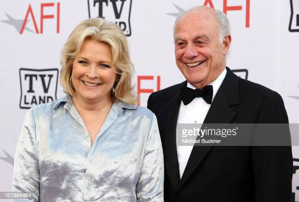Actress Candice Bergen and Marshall Rose arrive at the 38th AFI Life Achievement Award honoring Mike Nichols held at Sony Pictures Studios on June 10...