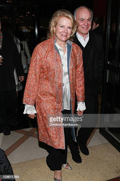 Actress Candice Bergen and Marshall Rose attends The Great Debaters New York premiere at the Ziegfeld Theater on December 19 2007 in New York City