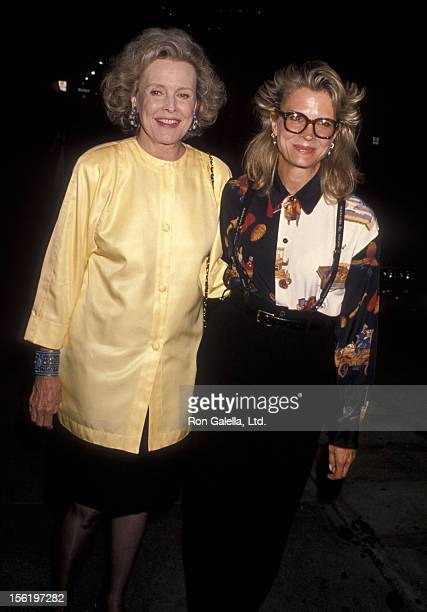 Actress Candice Bergen and mother Frances Bergen attend Andrea Marcovicci's 'What is Love' Theatrical Concert Opening Night Performance on September...
