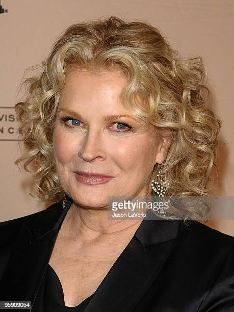 Actress Candice Bergen attends the Academy of Television's 19th annual Hall of Fame induction gala at Beverly Hills Hotel on January 20 2010 in...