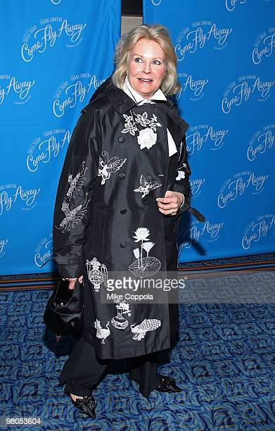 """Actress Candice Bergen attends the Broadway opening of """"Come Fly Away"""" at the Marriott Marquis on March 25, 2010 in New York City."""