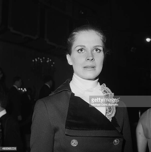 Actress Candice Bergen attends the Golden Globe award show in Los Angeles California