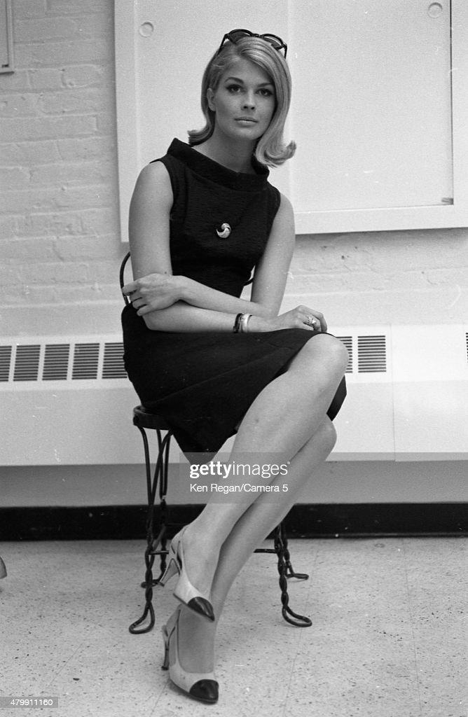Actress Candice Bergen is photographed at Mark Shaw Studio in July 1964 in New York City.