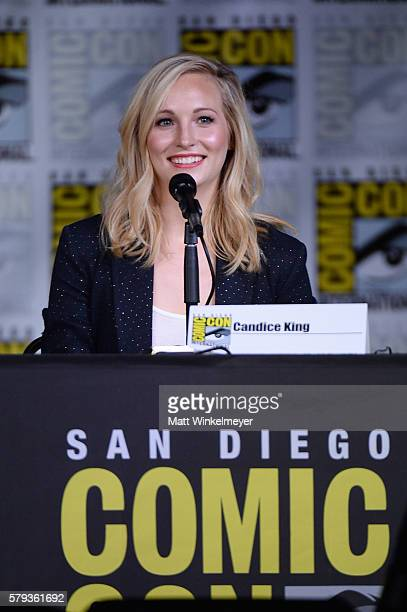 Actress Candice King attends the The Vampire Diaries panel during ComicCon International 2016 at San Diego Convention Center on July 23 2016 in San...