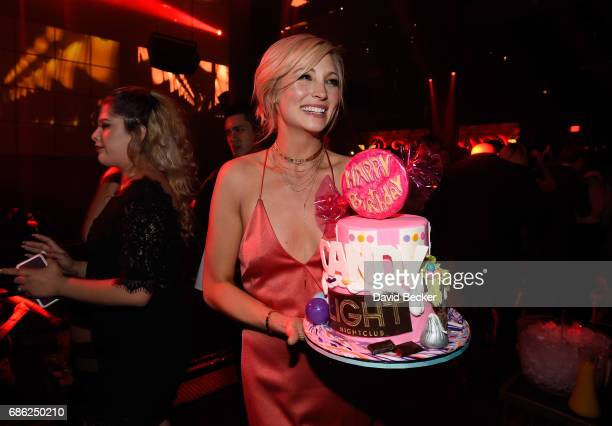 Actress Candice King celebrates her birthday at the Light Nightclub at the Mandalay Bay Resort and Casino on May 21 2017 in Las Vegas Nevada