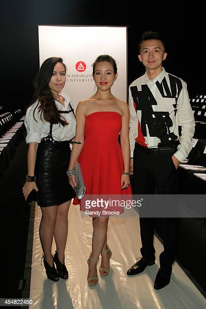 Actress Candice Liu attends the Academy Of Art University Spring 2015 Collections during MercedesBenz Fashion Week Spring 2015 at The Theatre at...