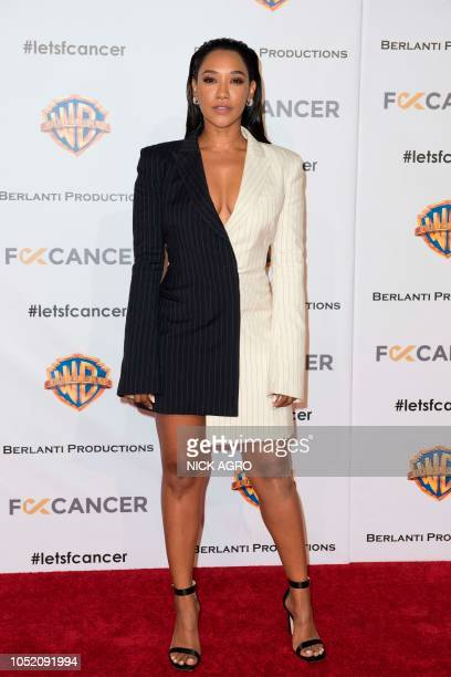 US actress Candice Patton arrives for the F*ck Cancer Gala October 13 2018 at Warner Bros Studio in Burbank California
