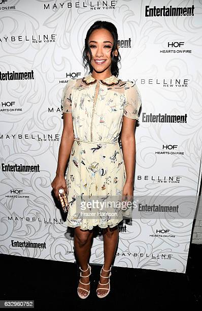 Actress Candice Patton attends the Entertainment Weekly Celebration of SAG Award Nominees sponsored by Maybelline New York at Chateau Marmont on...