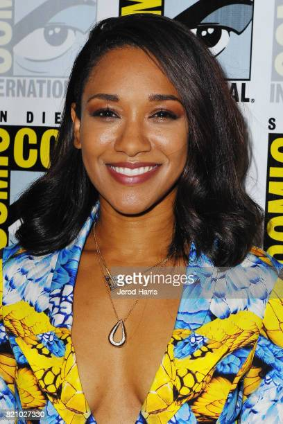 Actress Candice Patton attends 'The Flash' press line at Comic Con 2017 Day 3 on July 22 2017 in San Diego California