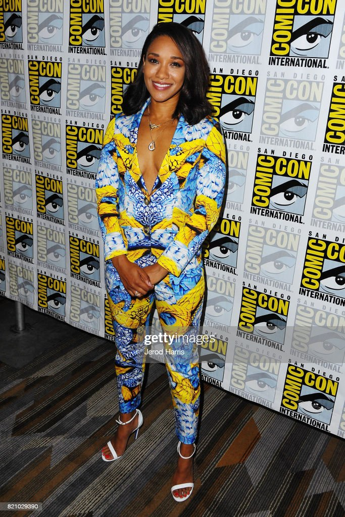Actress Candice Patton attends 'The Flash' press line at Comic Con 2017 - Day 3 on July 22, 2017 in San Diego, California.