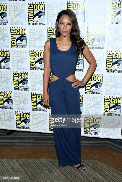 Actress Candice Patton attends 'The Flash' press line during ComicCon International 2014 at Hilton Bayfront on July 26 2014 in San Diego California