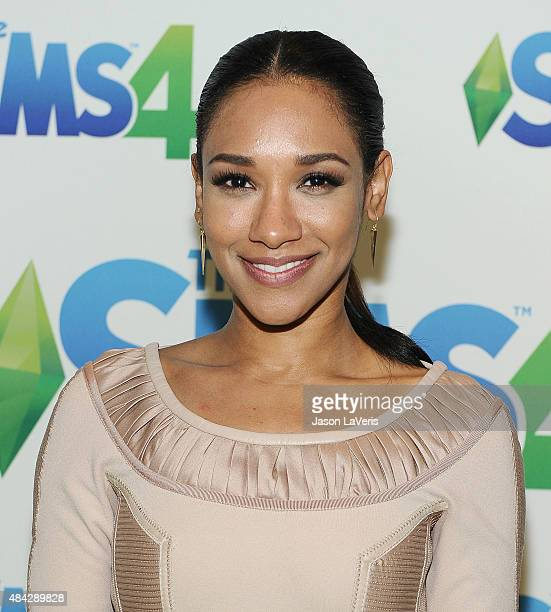 Actress Candice Patton poses in the green room at the 2015 Teen Choice Awards at Galen Center on August 16 2015 in Los Angeles California