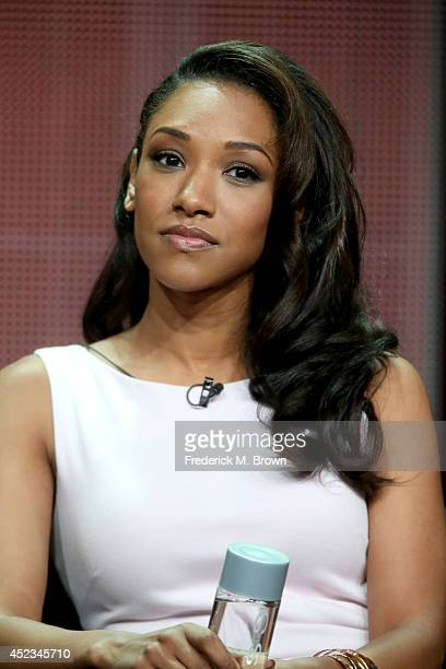 Actress Candice Patton speaks onstage at the The Flash panel during the CW Network portion of the 2014 Summer Television Critics Association at The...