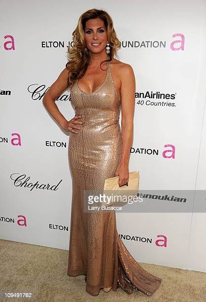 Actress Candis Cayne arrives at the 19th Annual Elton John AIDS Foundation Academy Awards Viewing Party at the Pacific Design Center on February 27...