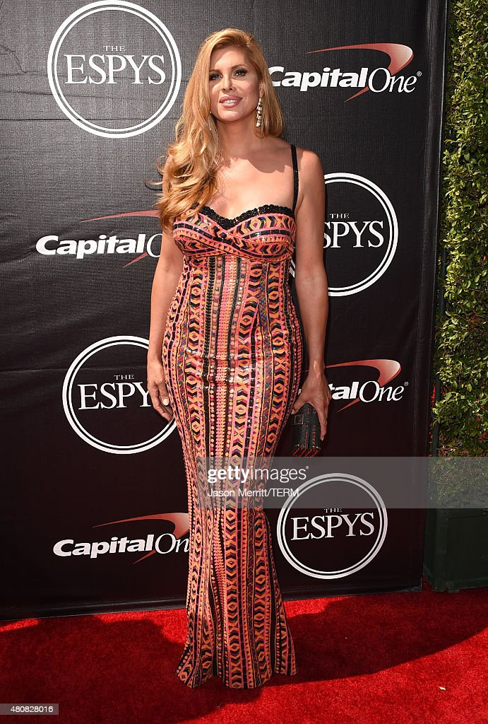 Actress Candis Cayne attends The 2015 ESPYS at Microsoft Theater on July 15, 2015 in Los Angeles, California.