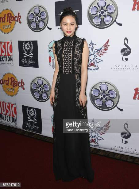 Actress Candy Wang attends the inaugural Las Vegas FAME Awards presented by the Producers Choice Honors at the Hard Rock Cafe Las Vegas Strip on...
