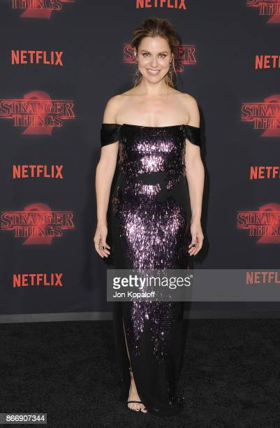 Actress Cara Buono arrives at the premiere of Netflix's Stranger Things Season 2 at Regency Bruin Theatre on October 26 2017 in Los Angeles California