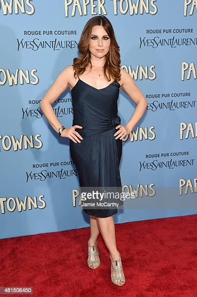 Actress Cara Buono attends the New York premiere of Paper Towns at AMC Loews Lincoln Square on July 21 2015 in New York City