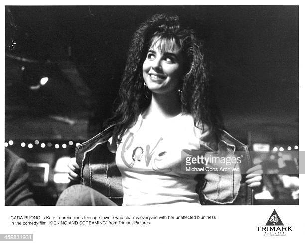 Actress Cara Buono on set of the movie 'Kicking and Screaming ' circa 1995