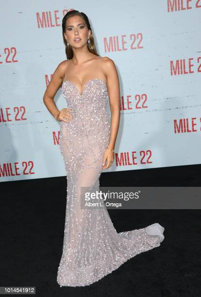 Actress Cara Del Toro arrives for the Premiere Of STX Films' 'Mile 22' held at Westwood Village Theatre on August 9 2018 in Westwood California