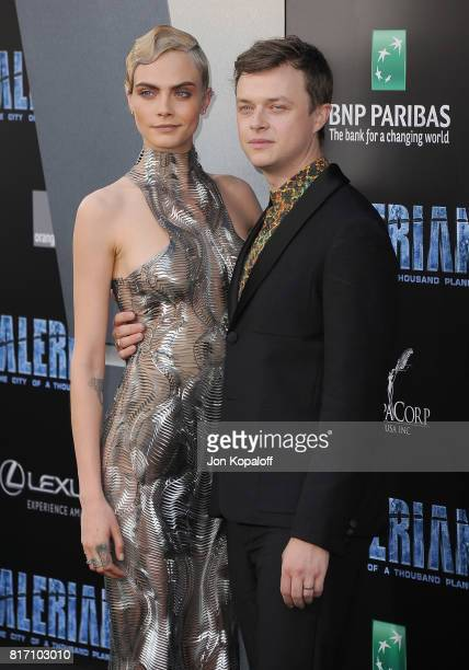 Actress Cara Delevingne and actor Dane DeHaan arrive at the Los Angeles Premiere 'Valerian And The City Of A Thousand Planets' at TCL Chinese Theatre...