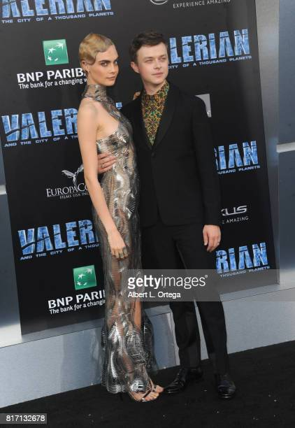 Actress Cara Delevingne and actor Dane DeHaan arrive for the Premiere Of EuropaCorp And STX Entertainment's 'Valerian And The City Of A Thousand...