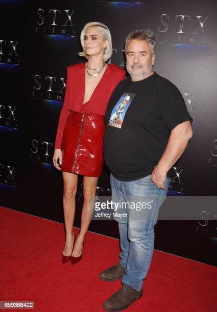 Actress Cara Delevingne and writer/director Luc Besson at CinemaCon 2017 The State of the Industry Past Present and Future and STX Films Presentation...