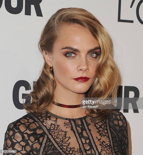Actress Cara Delevingne arrives at Glamour Women Of The Year 2016 at NeueHouse Hollywood on November 14 2016 in Los Angeles California