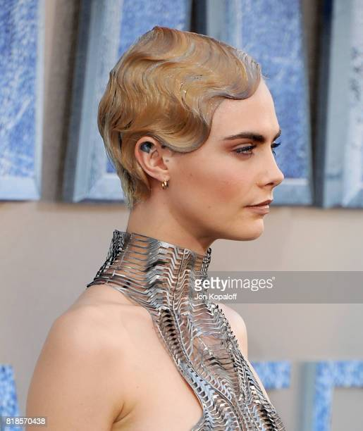 Actress Cara Delevingne arrives at the Los Angeles Premiere Valerian And The City Of A Thousand Planets at TCL Chinese Theatre on July 17 2017 in...