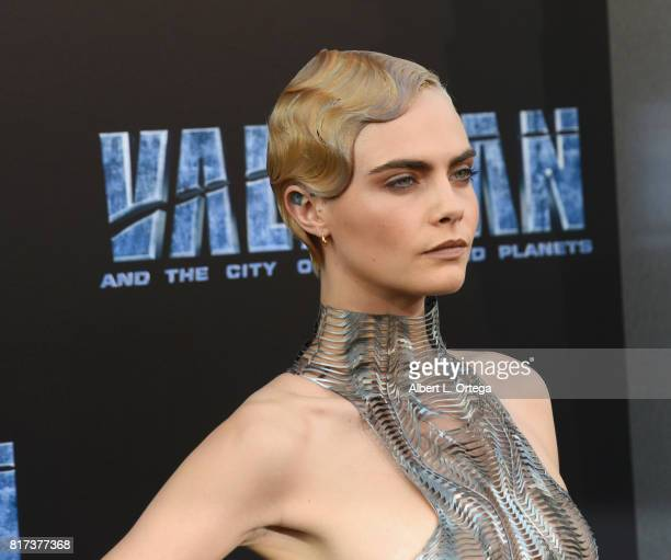 Actress Cara Delevingne arrives for the Premiere Of EuropaCorp And STX Entertainment's 'Valerian And The City Of A Thousand Planets' held at TCL...