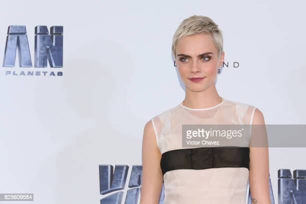 Actress Cara Delevingne attends a photocall to promote their new film 'Valerian And The City Of A Thousand Planets' at St Regis Hotel on August 2...