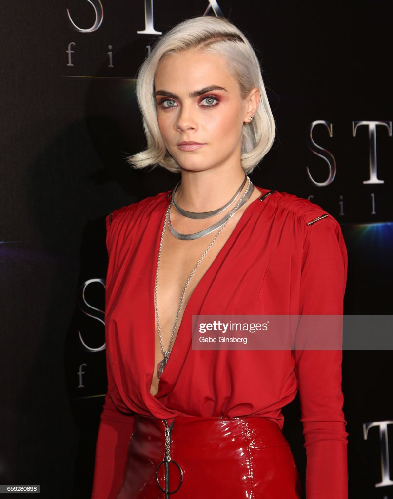 Actress Cara Delevingne attends STX Films' 'The State of the Industry: Past, Present and Future' presentation during CinemaCon at The Colosseum at Caesars Palaceon March 28, 2017 in Las Vegas, Nevada.